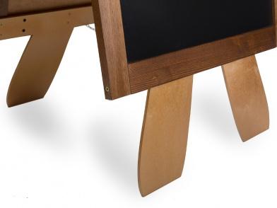 Tableau noir pancarte trottoir en bois forme a pour pub for Planche bois noir
