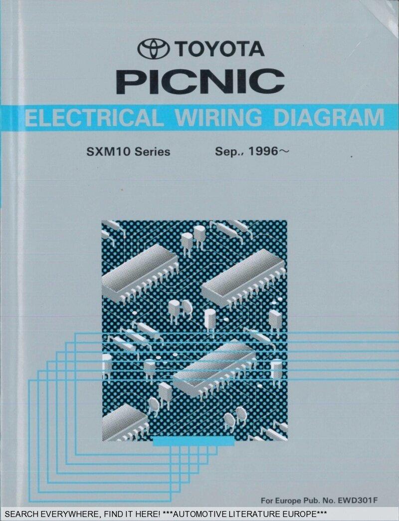 1996 toyota picnic sxm10 elektrik schaltpl ne electrical wiring rh ebay co uk